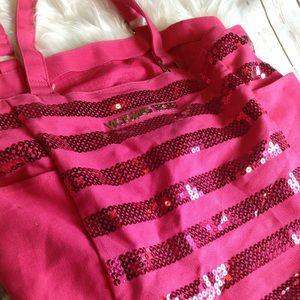 Victoria's Secret PINK Purse Pink Sequin Tote Bag